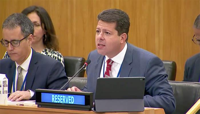 Picardo interviene en el Comité de Descolonización de la ONU
