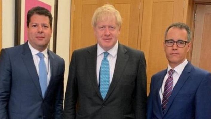 Fabian Picardo, Boris Johnson y Joseph García