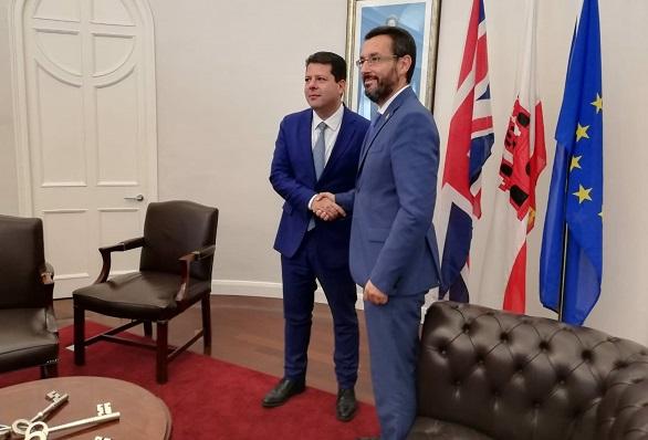 Fabian Picardo y Juan Franco, en una imagen de archivo. Foto: NG