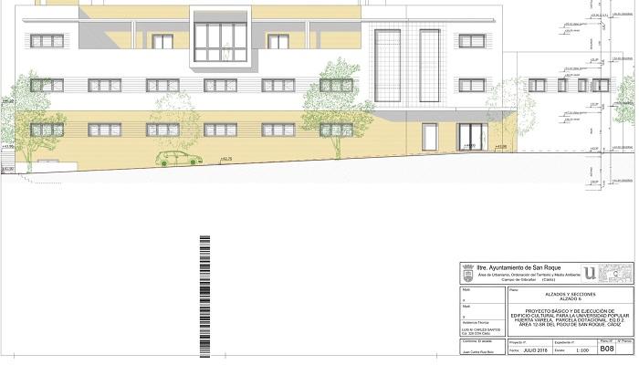 Uno de los planos del edificio Varela en San Roque