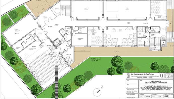 Plano del edificio de Huerta Varela que ha salido a licitación