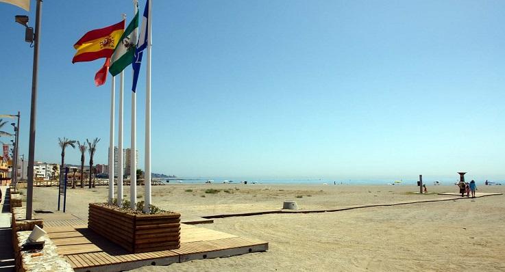 Una imagen reciente de la Playa de Torreguadiaro, en San Roque