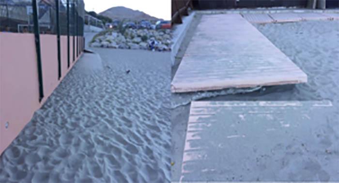 Los accesos a las playas son imposibles para los discapacitados