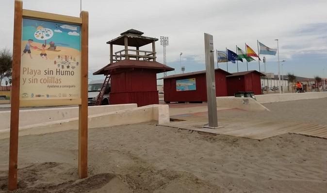 La Playa de Santa Barbara, lugar libre de humo y colillas