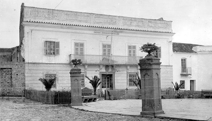 Lugar donde El Africano dio el primer pase a muleta. Imagen de 1932