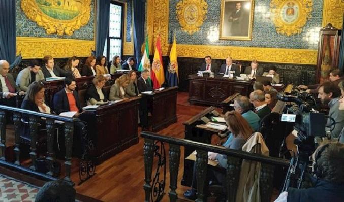 Una imagen reciente de un pleno celebrado en Algeciras