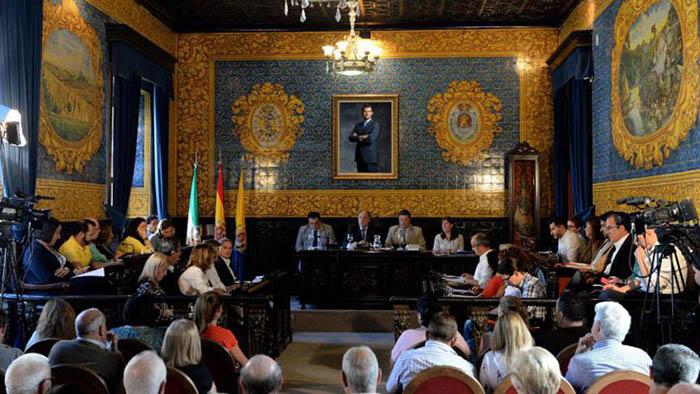 Pleno municipal, en una imagen de archivo