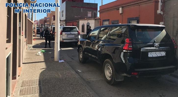 Una de las actuaciones de la Policía Nacional en La Línea