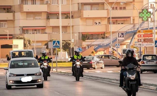Dos motocicletas de la Policía Local de La Línea