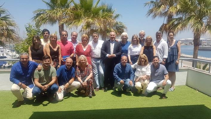 Dirigentes del PP, este sábado en Algeciras