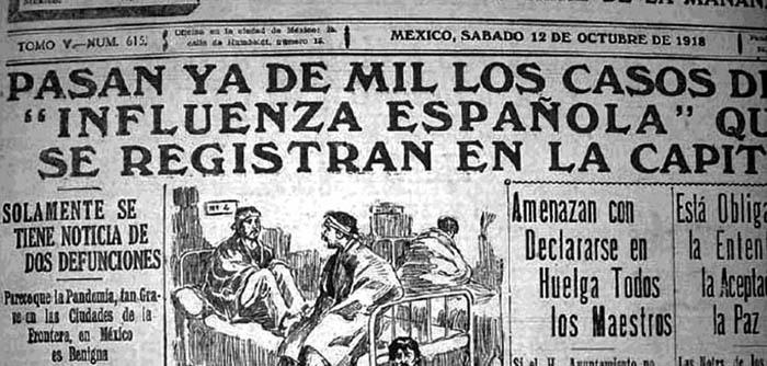 """La prensa internacional informó de la pandemia de """"gripe española""""  en sus respectivos países"""