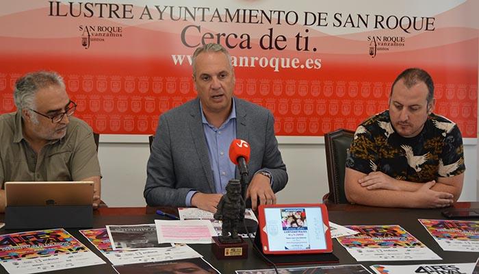 El alcalde de San Roque durante la presentación del Festival