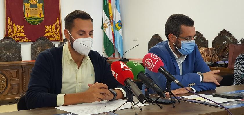 Mario Fernández y Juan Franco, esta mañana. Foto: lalínea.es