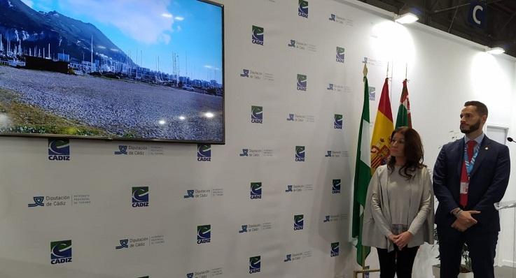 Mercedes Atanet y Mario Fernández, esta mañana en Fitur