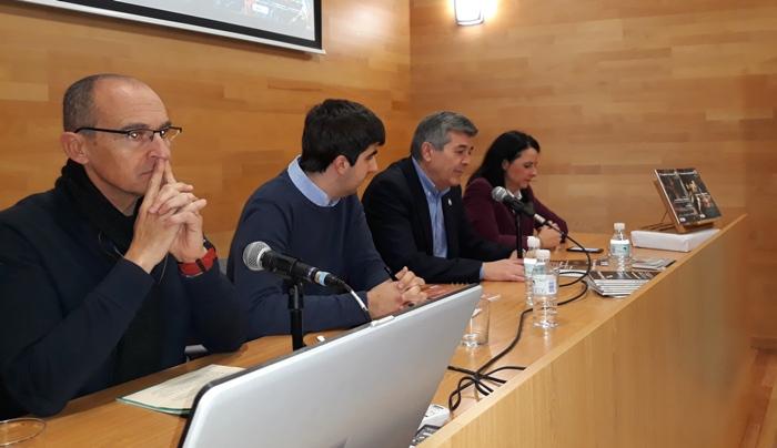 Desde la izquierda, Ángel Sáez, Álvaro López, Luis Ángel Fernández y Marina García