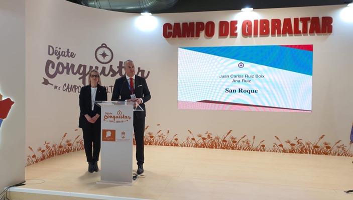 El alcalde ha presentado el vídeo en el expositor de Mancomunidad de Municipios