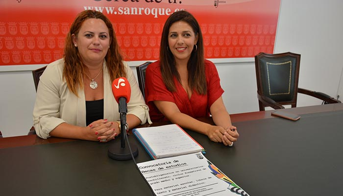 La alcaldesa accidental y la delegada de Educación de San Roque