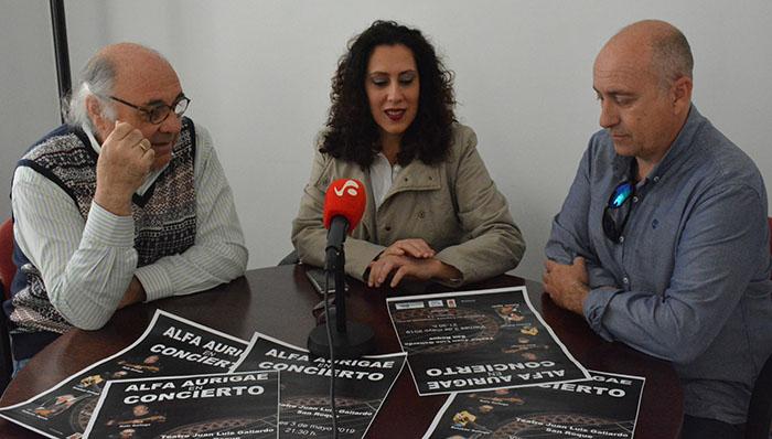 Presentación del concierto que se celebra el 3 de mayo en San Roque