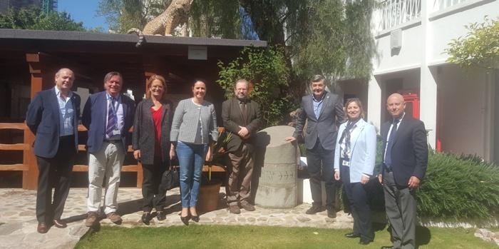 Imagen de la visita de la Mancomunidad al museo gibraltareño