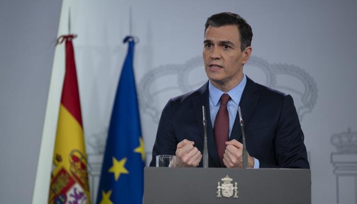 El presidente del Gobierno, Pedro Sánchez, en comparecencia reciente
