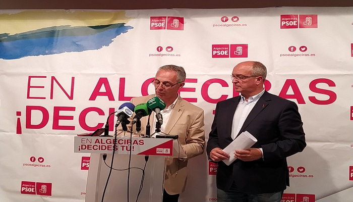 Juan Lozano junto a Fernando Silva en rueda de prensa
