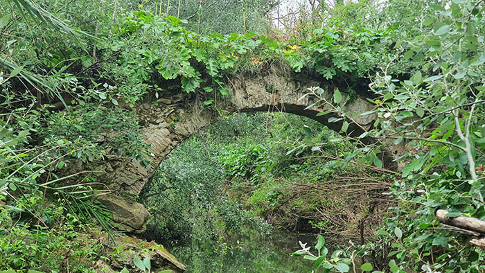 Imagen actual del histórico puente