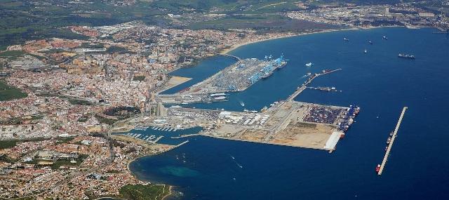 Imagen aérea del Puerto de Algeciras
