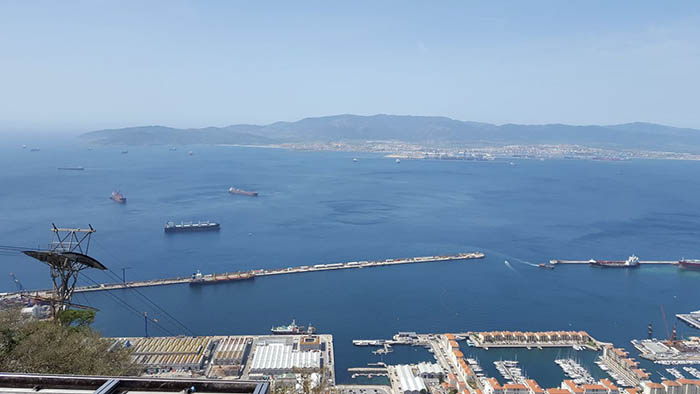 El puerto de Gibraltar, esta mañana sin el submarino