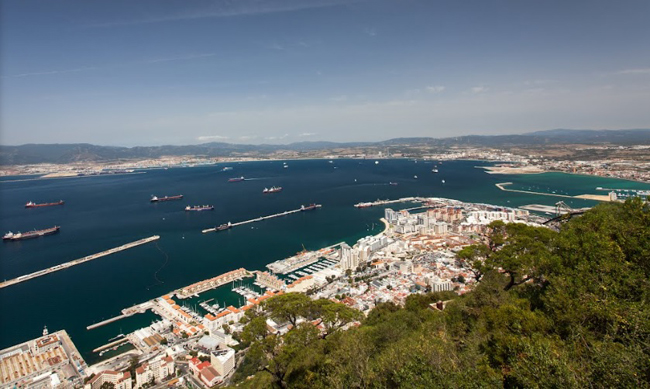 La Bahía de Algeciras desde Gibraltar