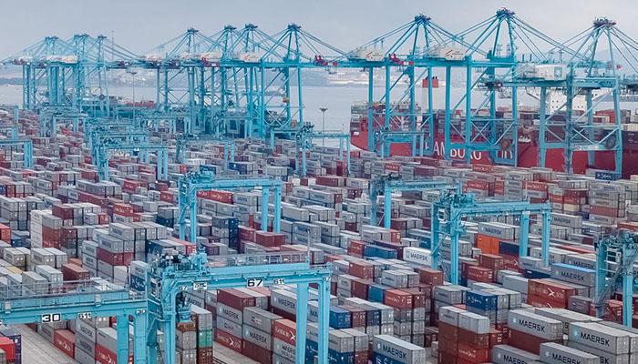 Imagen del puerto de Algeciras