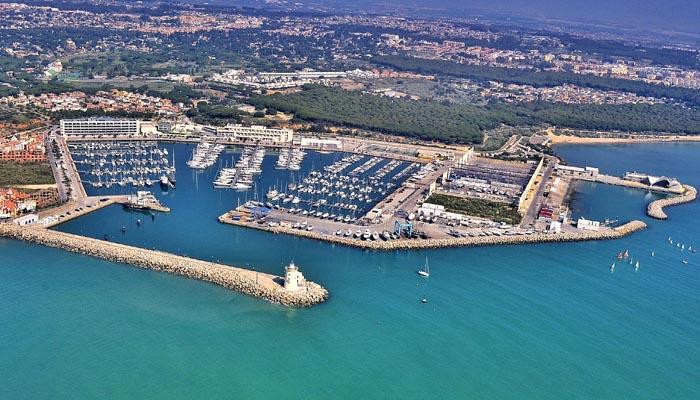 Imagen aérea de Puerto Sherry, en El Puerto de Santa María