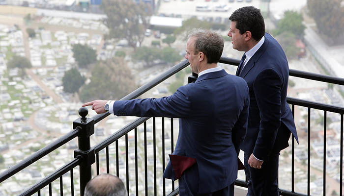 Raab y Picardo durante la visita del primero a Gibraltar en marzo pasado. Foto InfoGibraltar