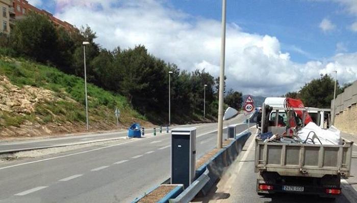 Las luminarias del Acceso Norte de Algeciras serán repuestas el lunes