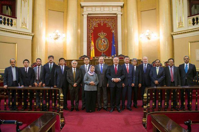 Imagen de embajadores el pasado año en el Senado