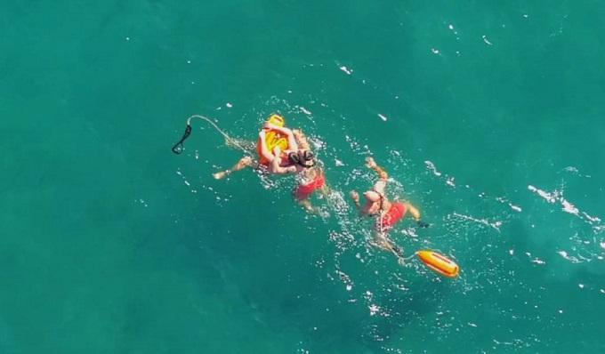 Imagen de un rescate difundida por Socoservis. Foto: NG