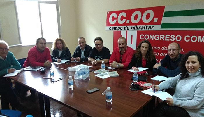 Imagen de la reunión de CCOO celebrada en Algeciras