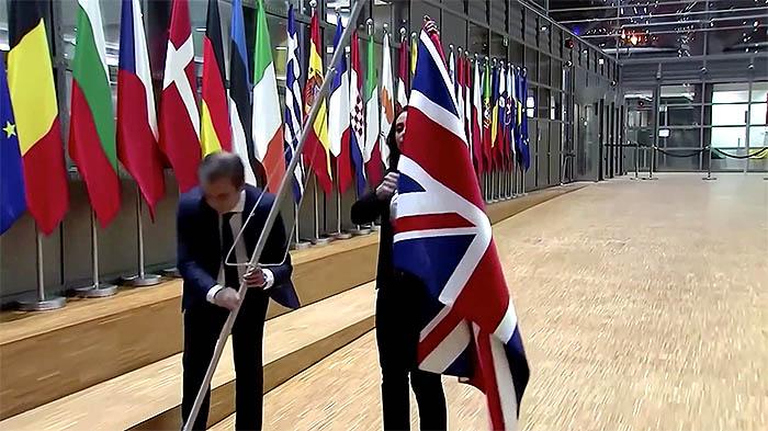 Retirada de la bandera británica en la UE
