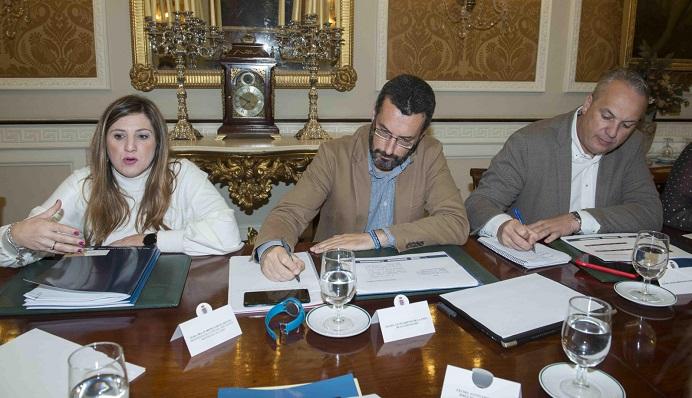 Irene García, Juan Franco y Juan Carlos Ruiz Boix