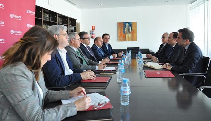 La reunión se ha llevado a cabo en la sede de la Cámara de Comercio del Campo de Gibraltar