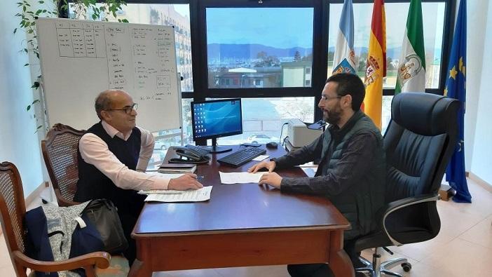 Lorenzo Pérez-Periañez y Juan Franco, en su reunión de este martes