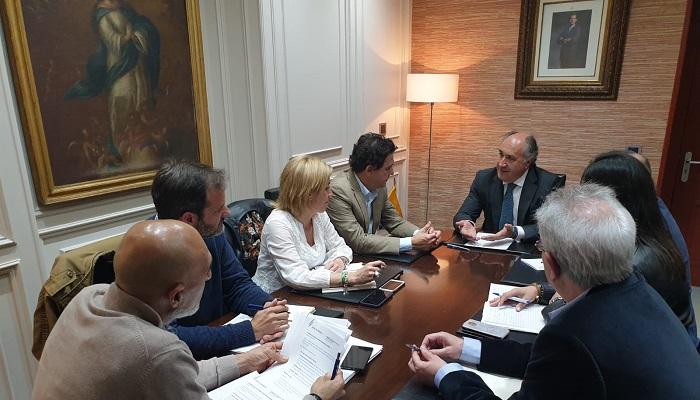 Imagen de la reunión celebrada en el Ayuntamiento de Algeciras