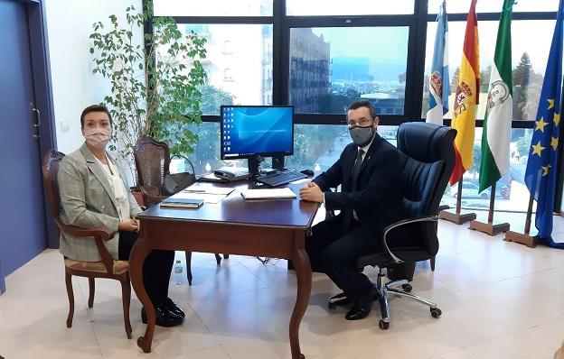 Gemma Araujo y Juan Franco, esta mañana. Foto: lalínea.es