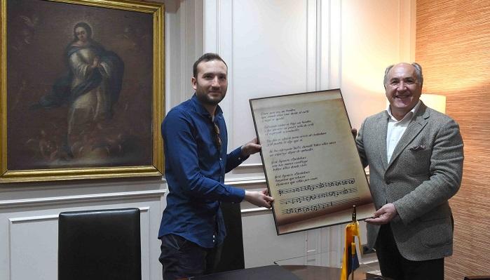El músico 'Pablinho de la Bahía', recibido en el Ayuntamiento de Algeciras