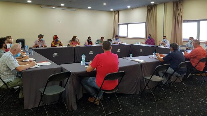 La reunión de esta mañana presidida por el alcalde linense, Juan Franco