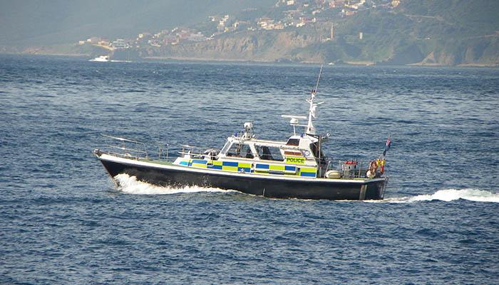 Una embarcación de la Policía de Gibraltar