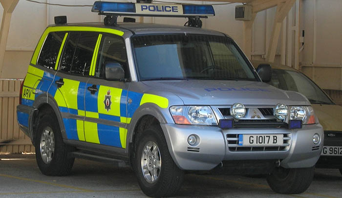 Vehículo de la Policía de Gibraltar (RGP)