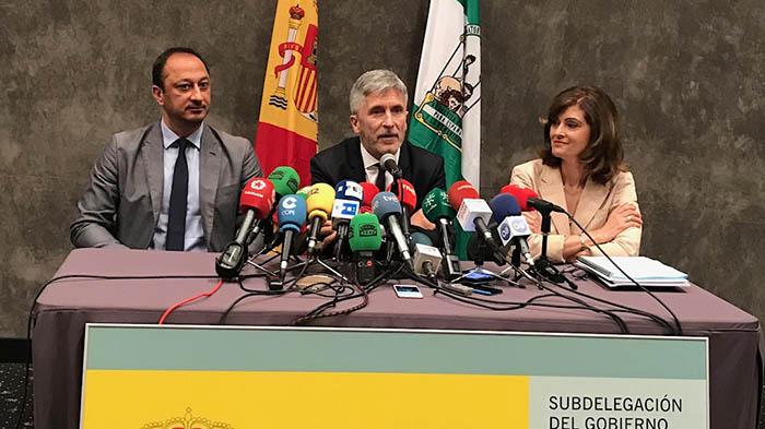 Rueda de prensa del ministro Grande-Marlaska, hoy en La Línea