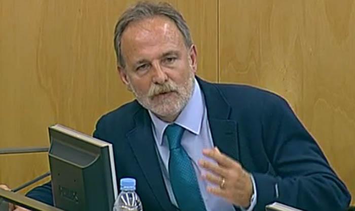 Salvador de la Encina (PSOE) en una comisión del Congreso