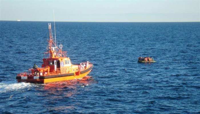 Imagen de un rescate en el Estrecho de Gibraltar