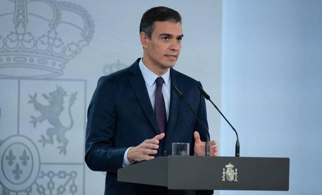 Pedro Sánchez, esta tarde en rueda de prensa. Foto: NG